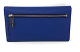 Michael Kors Jet Set Travel Large Trifold Wallet Sapphire Blue - Gaby's Bags