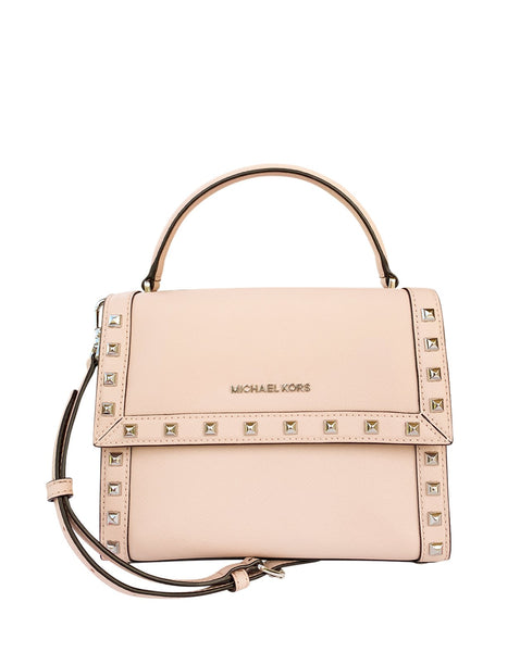 Michael Kors Dillon Studded Medium Top Handle Messenger Bag Ballet Pink - Gaby's Bags