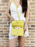 Michael Kors Jet Set Travel Multifunction Phone Crossbody Bag Sunshine Yellow - Gaby's Bags