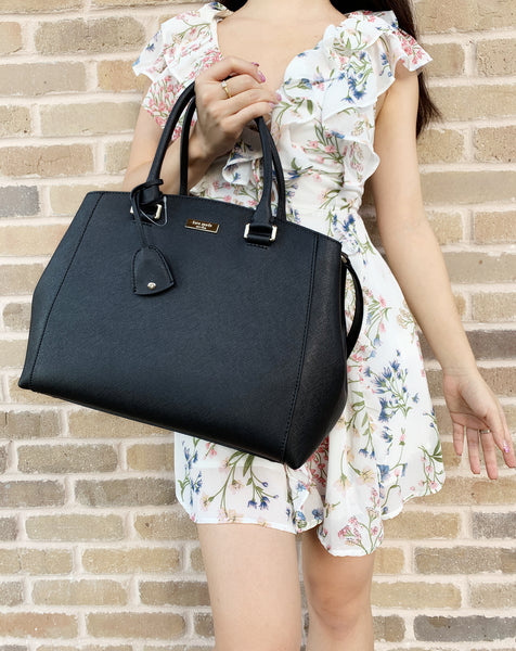 Kate Spade Tilden Place Sloan Large Satchel Black - Gaby's Bags