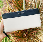 Kate Spade Cameron Neda Large Continental Wallet Warm Beige Black Multi
