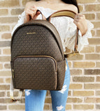 Michael Kors Erin Abbey Large Backpack Brown MK Signature