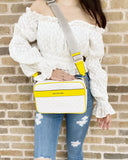 Michael Kors Jet Set EW Kenly Large Pocket Crossbody White MK Citrus Yellow