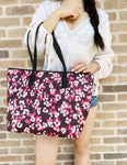 Kate Spade Young Lane Nyssa Multi Cherry Blossom Tote Bag Handbag