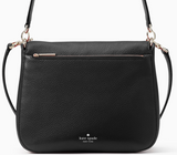 Kate Spade Kailee Medium Flap Leather Shoulder Bag Crossbody Black Leather