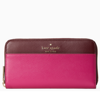 Kate Spade Cameron Neda Zip Around Continental Wallet Pink Multi Colorblock