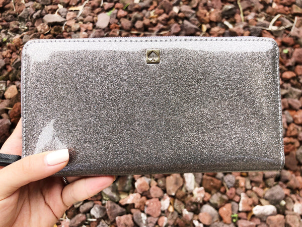 Kate Spade Mavis Street Neda Zip Around Wallet Gray - Gaby's Bags