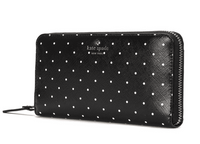 Kate Spade Brooks Drive Lacey Wallet Black Cement Polka Dot - Gaby's Bags