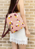 Kate Spade Jackson Dusk Buds Medium Backpack Pink Multi Floral - Gaby's Bags