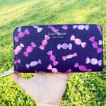 Kate Spade Candy Shop Staci Large Continental Zip Around Wallet Purple Pink