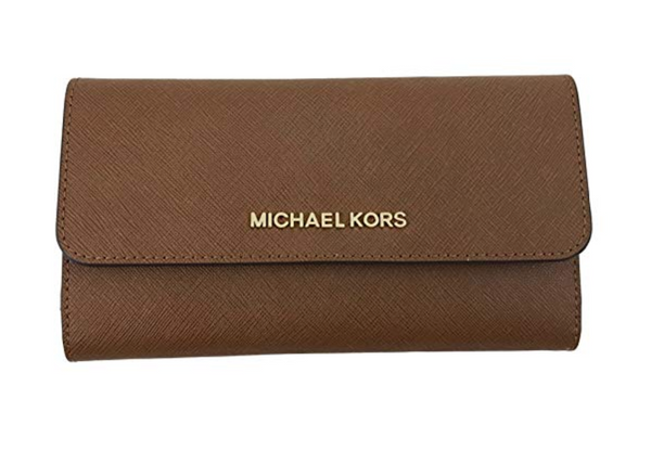 Michael Kors Jet Set Travel Large Trifold Wallet Luggage - Gaby's Bags