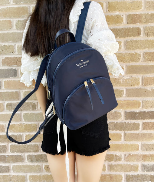 Kate Spade Karissa Nylon Medium Backpack Nylon Nightcap Blue