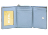 Michael Kors Jet Set Travel Small Multifunctional Zip Case Wallet Powder Blue - Gaby's Bags