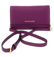 Michael Kors Jet Set Travel Crossbody Pomegranate with Wristlet Clutch INSERT - Gaby's Bags