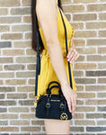 Michael Kors Ginger Mini XS Extra Small Black Signature MK Duffle Crossbody