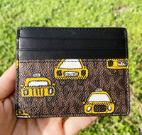 Michael Kors New York City Taxi Crad Holder Brown MK Black