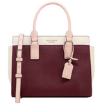 Kate Spade Cameron Street Medium Satchel Cherry Wood Warm Vellum - Gaby's Bags