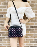 Kate Spade Payton Medium Dome Crossbody Fiesta Dot Black Multi