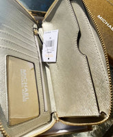 Michael Kors Giftable Large Flat Phone Wristlet Wallet Pale Gold Glitter - Gaby's Bags