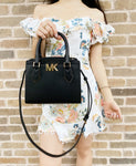 Michael Kors Mott Medium Messenger Bag Small Satchel Black Crossbody