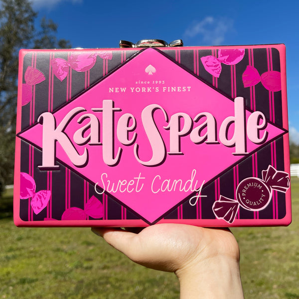 Kate Spade Candy Shop Candy Wrapper Clutch Frame Handbag Multi Leather Novelty