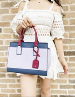 Kate Spade Cameron Medium Satchel Crossbody Frozen Lilac Multi Red