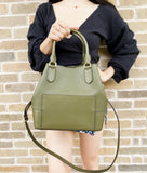 Michael Kors Trista Large Grab Bag Tote Crossbody Duffle Green Saffiano Leather