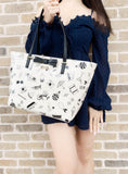 Kate Spade South Poplar Street Francis Tote Cream Multi Black Bow - Gaby's Bags