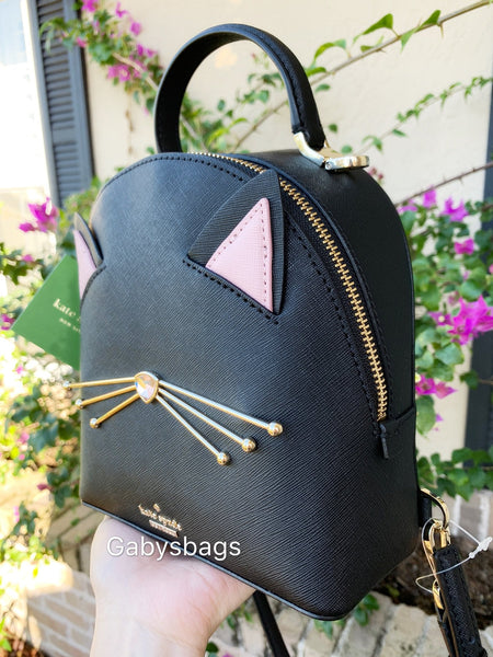 ... Gaby s Bags · Kate Spade Cat s Meow Binx Mini Backpack Crossbody Black  Pink - Gaby s ... 3e569ee4a8b7a