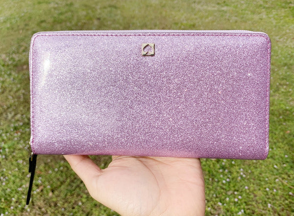 Kate Spade Mavis Street Neda Zip Around Wallet Rum Radom Purple - Gaby's Bags