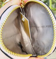 Michael Kors Kenly Large Pocket Crossbody Vanilla Pink + Round Coin Wallet