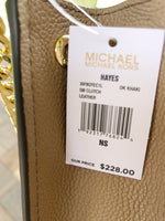 Michael Kors Hayes Small Clutch Mini Crossbody Bag Dark Khaki - Gaby's Bags