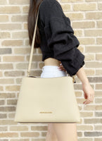 Michael Kors Sofia Portia Large East West Satchel Crossbody Bisque - Gaby's Bags
