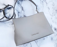 Michael Kors Sofia Portia Large East West Satchel Crossbody Pearl Grey - Gaby's Bags