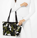 Michael Kors Whitney Camo Butterfly Tote (Black/Multicolor)