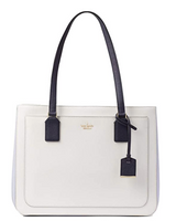 Kate Spade Cameron Street Zooey Large Leather Satchel Bag Cement Morning Multi