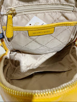 Michael Kors Erin Medium Marigold Yellow Leather + Double Zip Large Wristlet