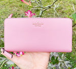 Kate Spade Laurel Way Neda Zip Around Continental Wallet Bright Carnation Pink