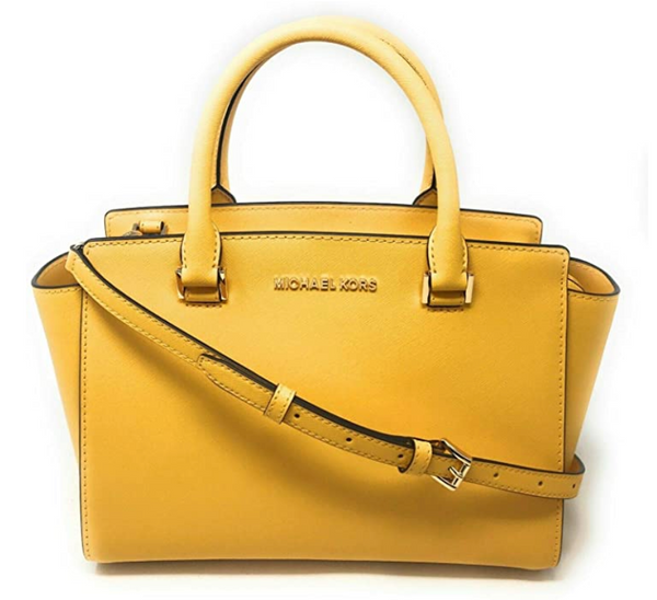 MK selma md satchel jasmine yellow