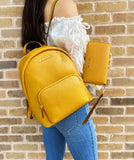 Michael Kors Medium Erin Backpack Marigold + Phone Wristlet Wallet