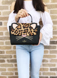 Kate Spade Leopard Kerrie Run Wild Cat Crossbody Top Handle Small Satchel - Gaby's Bags