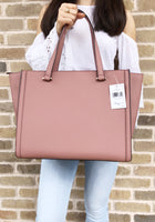 Kate Spade Regatta Court Saffiano Vita Large Tote Nutmeg Pink WKR5113 Leather - Gaby's Bags