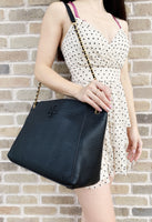 Tory Burch McGraw Slouchy Chain Shoulder Slouchy Tote Black - Gaby's Bags