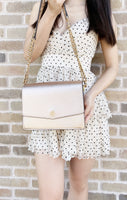 Tory Burch Robinson Small Shoulder Chain Bag Convertible Crossbody Rose Gold - Gaby's Bags