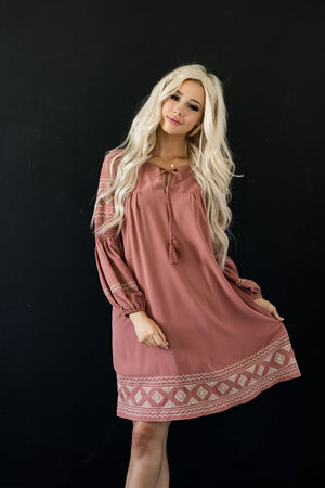 The Emily Dress in Mauve