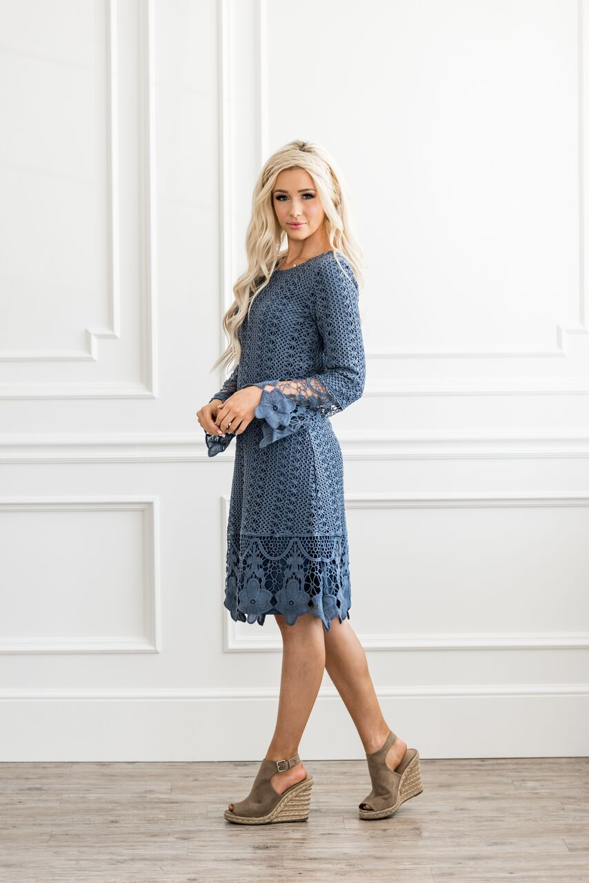 The Laney Dress in Blue