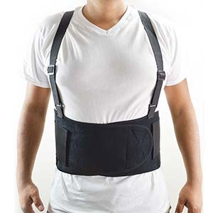 Interstate Back Support Belt w/ Shoulder Strap