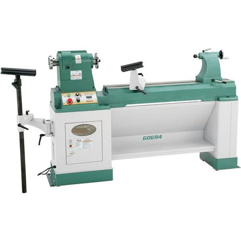 "Grizzly 20"" x 43"" Heavy-Duty Variable-Speed Wood Lathe"