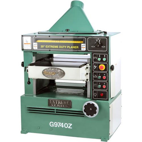 "Grizzly 20"" Planer w/ 7-1/2 HP 3-Phase Motor & Spiral Cutterhead"