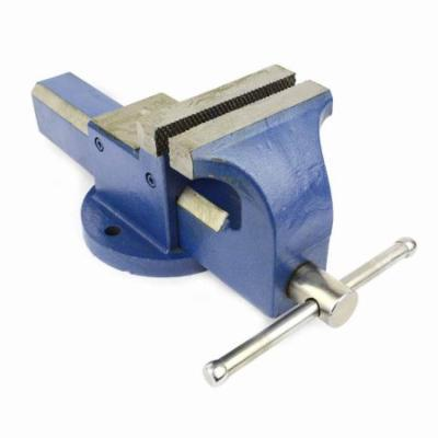 Big Horn Bench Vise Big Horn 5 Inch Fixed Base Vise with Anvil